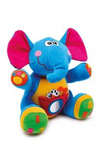 Peluche animale elefante di stoffa per bambino, Linus