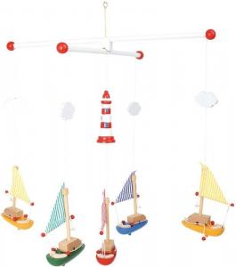Giostrina Barche a vela con faro arredo camera,culla lettino per neonato bambini