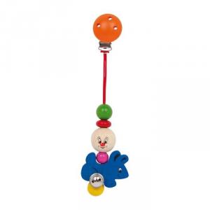 Baby clip in legno colorato Coniglio, per neonato