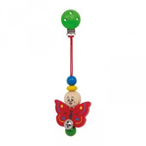 Baby-Clip Farfalla in legno colorato per neonato