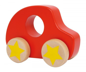 Automobile Bolide rosso in legno macchina giocattolo neonato bambini