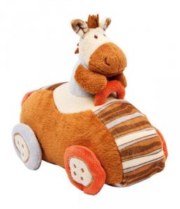 Peluche pupazzo mucca in auto Gioco neonato
