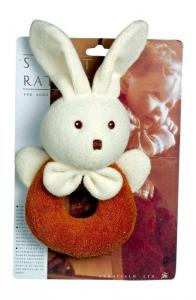 Sonaglio Coniglio peluche gioco tattile per neonato