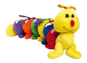 Peluche animale Millepiedi colorato gioco motricità per neonato