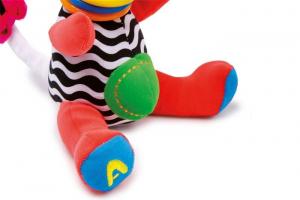 2 peluche colorati forma animale giraffa con suoni,gioco per neonato