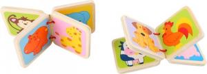 Libro con illustrate animali selvatici in miniatura. Espositore display per negozi. Set da 24 pezzi