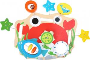 Lavagna gioco motricità in legno giocattolo tattile per neonato