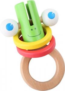 Gioco bruco in legno  gioco tattile per neonato