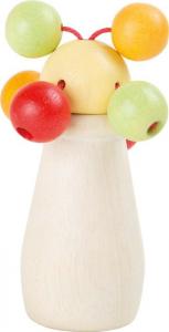 Sonaglio Divertimento sferico giocattolo tattile in legno per neonato