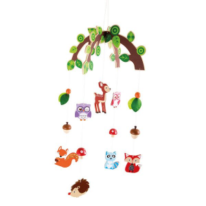 Giostrina in legno animali del bosco decorazione cameretta Legler 10116