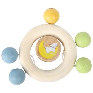 Gioco tattile per neonato Anello Lotta con perle in legno
