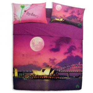 Set lenzuola letto singolo 1 piazza BASSETTI SIDNEY effetto copriletto