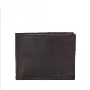Avirex - AVI S - Portafoglio da uomo in cuoio con patta interna marrone cod. avi-s-03