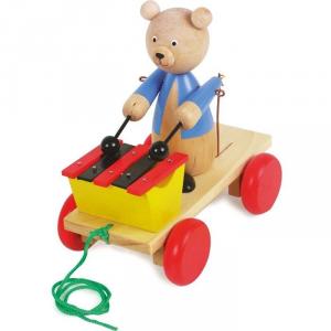 Strumento musicale Xilofono Gioco in legno da tirare per bambini