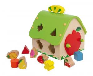 Casa da incastro forme Frutta da inserire Gioco per bambini in legno