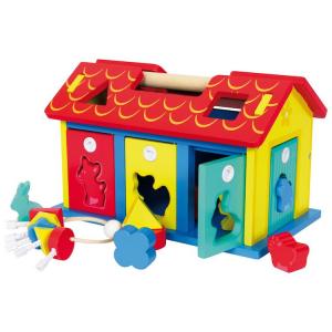 Casa da incastro animali e forme da inserire gioco motricità