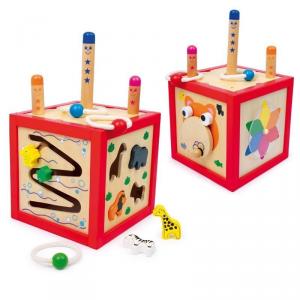 Cubo attività aiuto motricità Gioco x  bambini in legno