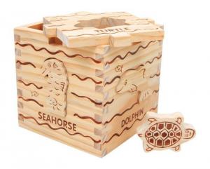 Puzzle/Dado ad incastro animali marini Gioco x  bambini in legno