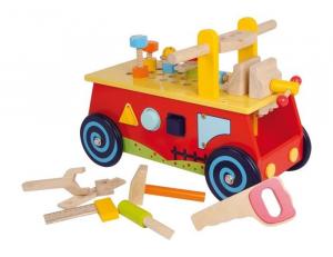 Macchina/costruzioni primi passi Banco da lavoro gioco x bambini in legno