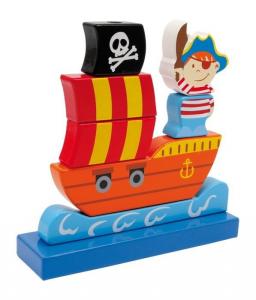 Puzzle/Nave dei pirati ad incastro Gioco per bambini in legno