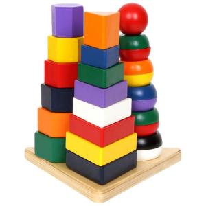 Piramide 3 in 1 da costruire gioco didatiico bambini