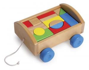 Cassetta costuzione trainabile, Gioco in legno bambina/bambino.Regalo