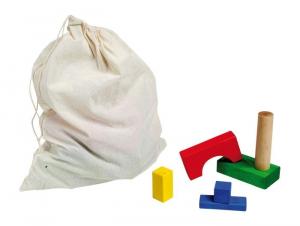 Cubetti x costruzioni colorati in legno Gioco bambina/bambino