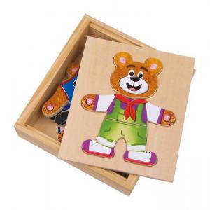 puzzle orso da vestire in legno Gioco bambino/bambina