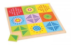 puzzle colori e forme in legno Gioco bambino/bambina