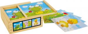 puzzle 3d a dadi animali legno 6 combinazioni Gioco bambino/bambina
