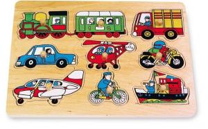 puzzle ad incastro traffico in legno gioco motricità Legler 7086