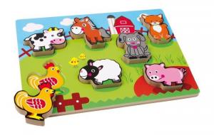 Puzzle animali fattoria in legno Gioco per bambino/bambina