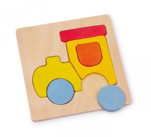 4 maxi Puzzle mezzi di trasporto legno Gioco x bambino/bambina