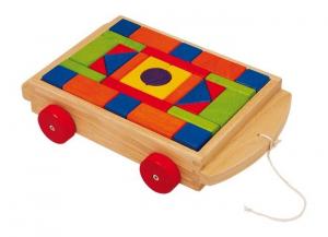 Costruzioni cubi con trasporto in legno gioco/giocatolo x bambino/bambina