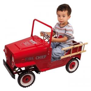 Gioco macchina a pedali Pompieri per bambino