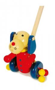 Cane animale da spingere in legno Gioco x bambino/bambina