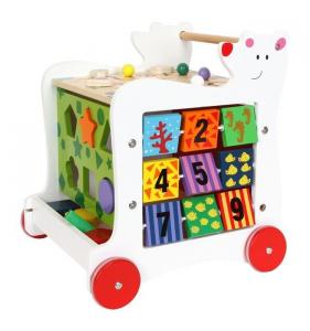 Carrello primi passi Orso in legno gioco per bambini. Legler 7393