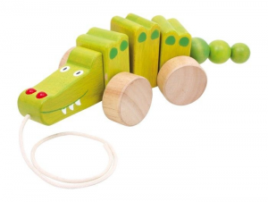 Coccodrillo animale da tirare in legno Gioco x bambino/bambina