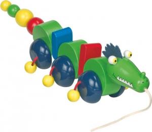Drago animale da tirare in legno gioco bambini Legler 8187