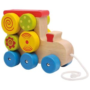 Locomotiva da tirare in legno gioco bambino