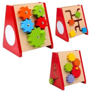 triangolo con ingranaggi Gioco attività x bambini aiuto motricità