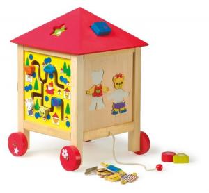 Casa attività in legno Gioco didattico per bambini