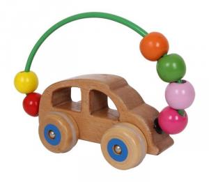 Auto/macchina con palline in legno Gioco x bambini stimola motricità