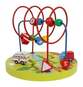Rotonda stradale gioco motricità in legno x bambini Legler 3416