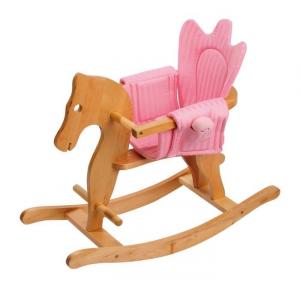Cavallo a dondolo doppio rivestimento Rosa e Azzurro Gioco x bambini