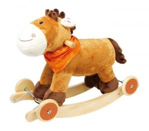 Cavallo a dondolo con ruote estraibili e suoni