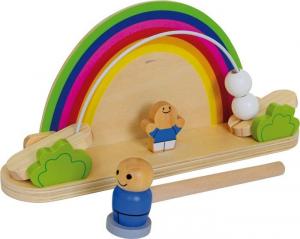 Gioco Colpisci altalena per bambini in legno x stimolo motricità