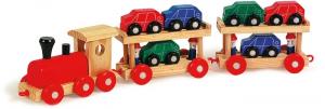 Trenino navetta in legno giocattolo per bambini