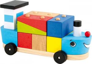 Cubi da montare Nave con cubetti in legno