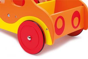 Carrello primi passi Pompieri in legno,gioco bambini